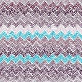 Seamless ikat pattern. Simple chevron ornament. Stripe print. Bl Stock Image
