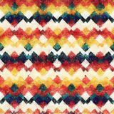 Seamless ikat water color style background Royalty Free Stock Photo