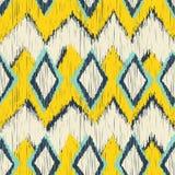 Seamless ikat zigzag pattern Royalty Free Stock Photos
