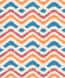 Seamless ikat zigzag pattern Royalty Free Stock Photo