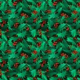 Seamless ilex pattern. Royalty Free Stock Image