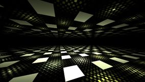 Seamless illusion perspective geometric background stock video footage