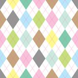 Argyle pattern. Seamless illustrated argyle pattern in pastel colors Royalty Free Stock Photos