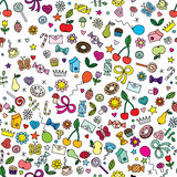 Seamless illustrated pattern Royalty Free Stock Images