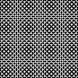 Seamless Illustration - Black Geometric Shapes Royalty Free Stock Images