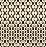 Seamless illustration of black honeycomb, seamless pattern Stock Photo