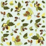 seamless illustration för ekollonhöstbakgrund Royaltyfri Fotografi
