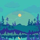 Mountain Scenery Illustration vector illustration