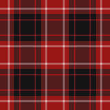 Seamless Illustration, Red Tartan Stock Image