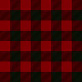Seamless illustration - red tartan Stock Photography