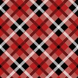 Seamless illustration, red tartan pattern with white stripes stock illustration