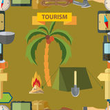 Seamless illustration. Tourism Stock Photo