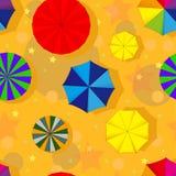 Seamless illustration of umbrella background Stock Photo