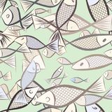 Seamless illustrations of fish. Style, cartoon, abstract & digital. Seamless illustrations of fish. Good for web page, wallpaper, graphic design, catalog Stock Photography
