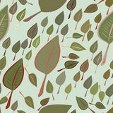 Seamless illustrations of leaves. Nature, cover, background & details. Seamless illustrations of leaves. Good for web page, wallpaper, graphic design, catalog vector illustration