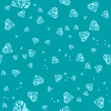 Seamless with the image of hearts in a cartoon, children's style Royalty Free Stock Photo