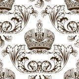 seamless imperialistisk ny prydnad för dekor royaltyfri illustrationer
