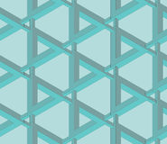 Seamless impossible object pattern wallpaper. Seamless impossible Penrose triangle pattern wallpaper Royalty Free Stock Image