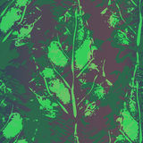 Seamless imprints pattern of the leafs. Grungy botanics stamp Royalty Free Stock Photo