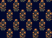 Seamless Indian mughal flower motif stock illustration