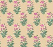 Seamless Indian mughal flower motif vector illustration