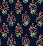 Seamless Indian mughal flower motif royalty free illustration