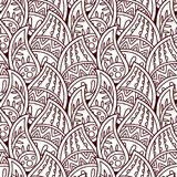 Seamless indian ornament, henna style. Luxury oriental design. Vector pattern in mendi style. Abstract floral vector illustration. Paisley stock illustration