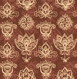 Seamless indian pattern based on traditional Asian elements Paisley Stock Photography