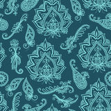 Seamless indian pattern based on traditional Asian elements Paisley Stock Images
