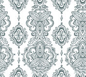 Seamless indian pattern based on traditional Asian floral elements Paisley. Vector hand drawn illustration stock illustration