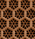 Seamless Indian pattern - brown sandstone grill on black backgro Stock Images