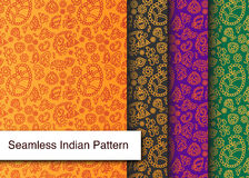 Seamless Indian Pattern - Detailed and easily editable Stock Images