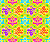 Seamless indian pattern Stock Photos