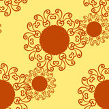 Seamless indian pattern flower-like texture. Abstract vector tribal ethnic yoga yantra background  Royalty Free Stock Image