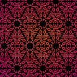 Seamless indian pattern in red and black colore. Seamless indian pattern red and black colored Stock Illustration