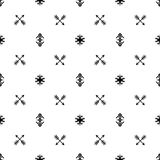Seamless Indian pattern vector arrows and USA Native American type geometric ethnic tribal ornaments black and white background de. Sign retro vintage bohemian Royalty Free Stock Photo