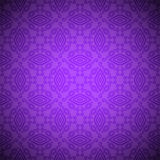 Seamless indian pattern in violet colore Royalty Free Stock Photos