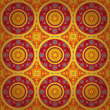 Seamless indian texture. Seamless orient paisley fabric background pattern in vector, Indian texture Royalty Free Stock Image