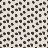 Seamless ink brush painted polka dot pattern. Royalty Free Stock Photos
