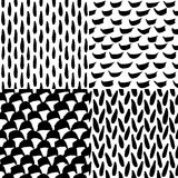 Seamless ink and brush pattern Stock Photos
