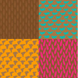 Seamless ink and brush pattern Royalty Free Stock Image