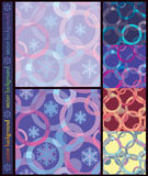 Seamless inlay of the circles and snowflakes1 Royalty Free Stock Photo