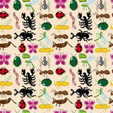 Seamless insect pattern Royalty Free Stock Image