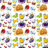 Seamless insects Royalty Free Stock Images