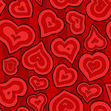Seamless Inset Heart Background Royalty Free Stock Photography