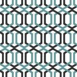 Seamless Interlocking Geometric Fret Background Pattern Stock Photo