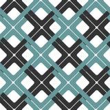 Seamless Interlocking Geometric Fret Background Pattern Royalty Free Stock Photo