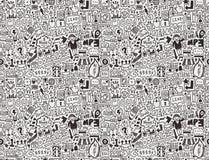 Seamless internet network pattern Stock Image