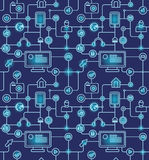 Seamless internet pattern Royalty Free Stock Image