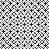 Seamless Intersecting Geometric Vintage Circle Pattern. Wallpaper stock illustration